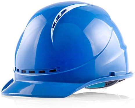 MEI XU エンジニアリング建設ヘルメット - ヘルメット建設現場監督スーパーバイザー電気工事労働保険建設工学通気性ヘルメット(3色オプション) // (色 : 青)
