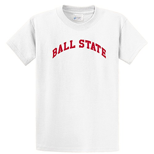 Campus Merchandise NCAA Ball State Cardinals Youth T-Shirt, Small, White
