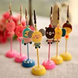 3 pcs Cute Kawaii Cartoon Romane Silicone Metal Memo Holder Paper Clip for Message Photo