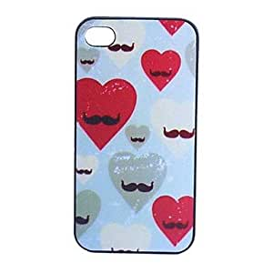 JJEMoustache Grind Arenaceous Plastic Back Case for iPhone 5/5S