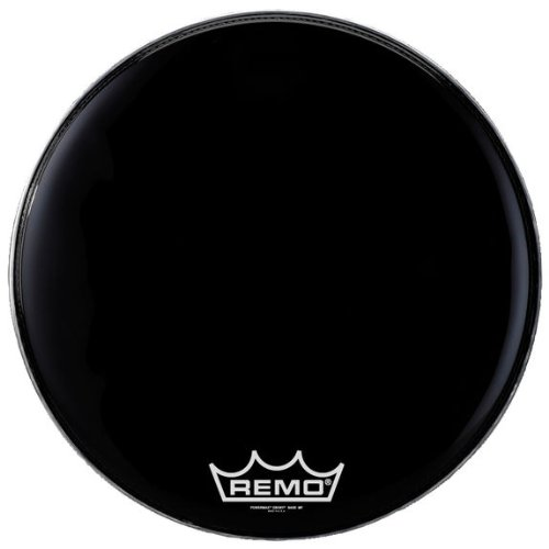 Remo Powermax 2 Ebony Crimplock Bass Drumhead, 28' (PM2428-MP-U)