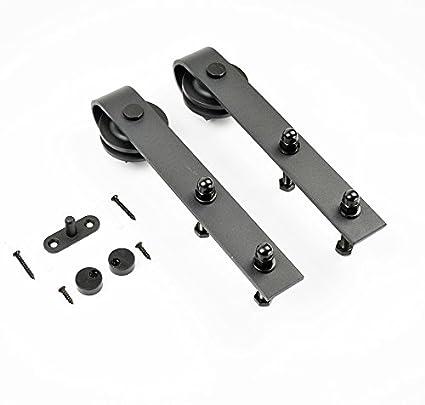 AiHom - 1 par de rodillos de acero al carbono para puerta corredera de madera para