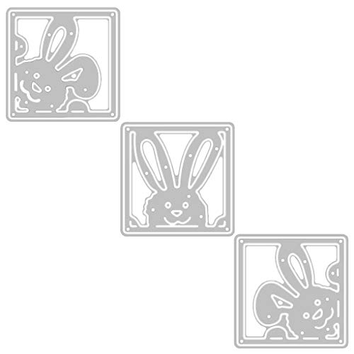 Sixsons Easter Cutting Dies, Happy Easter Carbon Steel Cutting Die For Card Making,Scrapbooking Embossing DIY Crafts Templates, Album Stamp Paper Card Decor