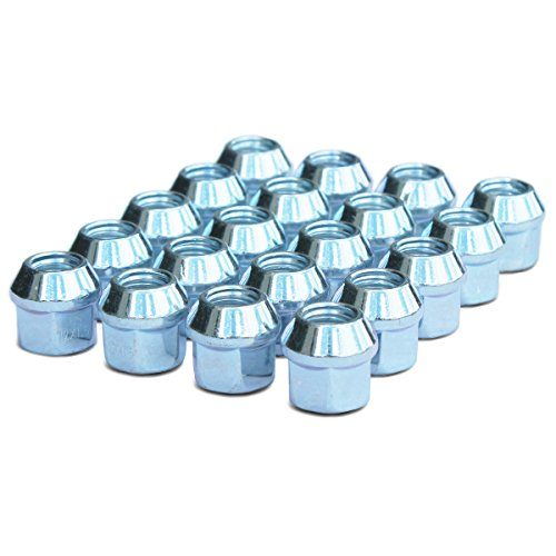 WheelGuard 1107, Zinc Finish, Open-end Acorn Bulge Lug Nut, M12x1.5 Thread, 3/4 Hex (Pack of 20) (End Nut)