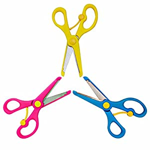 HOMEE Safe Paper Edging Scissors for Kids 3PK (3 Pack) for Teachers, Students, Crafts, Scrapbooking, DIY Photos, Album, Decorative