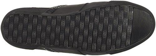 BIKKEMBERGS Damen Rubb-Er 752 Mid Shoe M Lame High-Top Grigio (Matte Gun/Black)