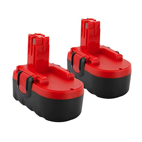 Lotive 2 Packs 18V 3.0Ah Ni-MH Replace Battery for Bosch BAT025 BAT026 BAT160 BAT180 BAT181 BAT189 Bosch 18V Power Tools Cordless Drill Battery