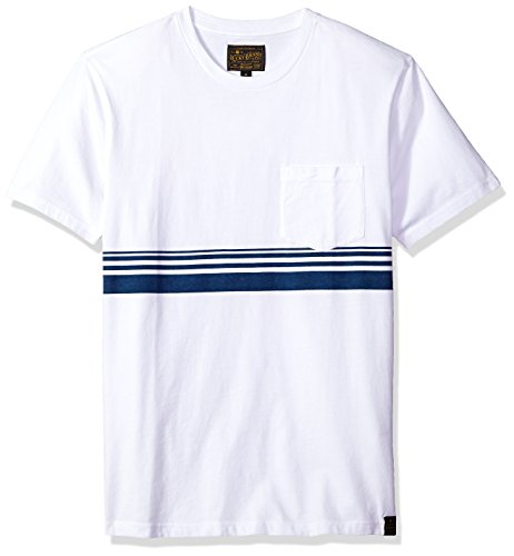 Lucky Brand Men's Crew Neck TEE Shirt with Chest Stripe Detail, Multi M