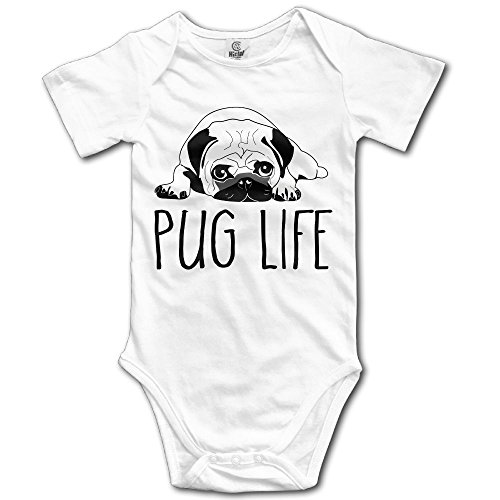 V5DGFJH.B Toddler Climbing Bodysuit Pug Life Infant Climbing Short-Sleeve Onesie Jumpsuit -