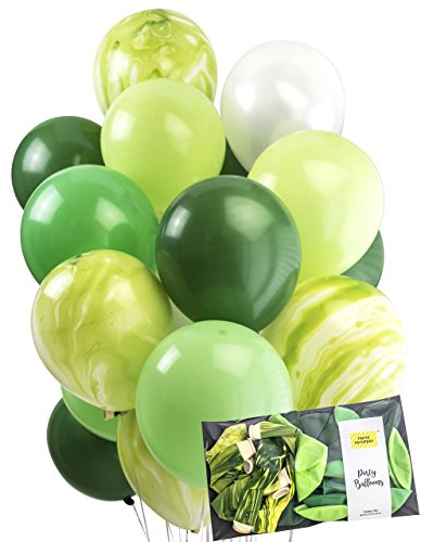 Green Balloons Agate Latex Marble 30pcs Quality 12