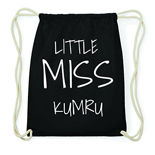 JOllify KUMRU Hipster Turnbeutel Tasche Rucksack aus Baumwolle - Farbe: schwarz Design: Little Miss