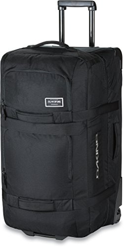 Dakine - Unisex Split Roller Luggage Bag - Durable Construction - Split-Wing Collapsible Brace Level - Exterior Quick Access Pockets (Black, 110L) by Dakine