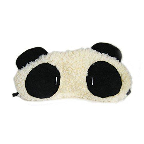 chinatera Lovely Panda Face Sleep Masker Eye Mask Sleeping Super Lightweight Soft Comfortable Eye Mask Blocks Light Fully Wide -