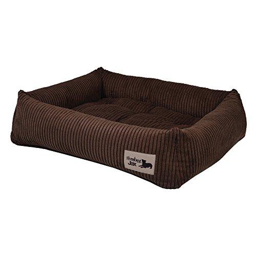Slumber Jax 38 x 30-Inch Dozer Dog Bed, Large, Corduroy Chocolate