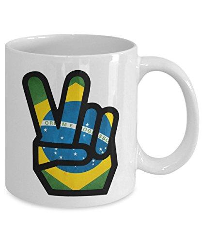 Brazil Peace 11oz Mug Design Printing - 100% No Fading
