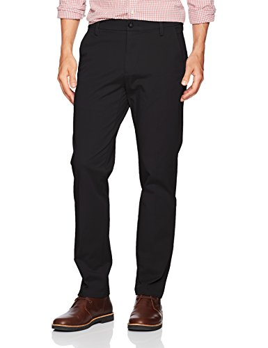 Dockers Men's Slim Tapered Fit Workday Khaki Smart 360 Flex Pants, Black (Stretch), 32W x 32L