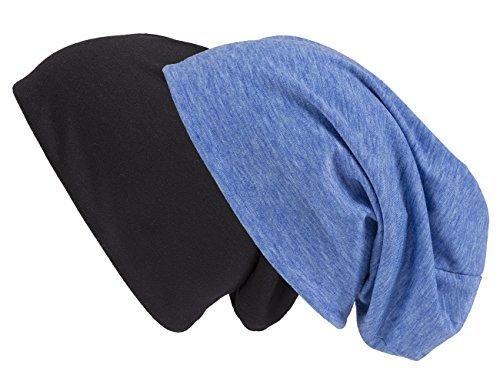 doble Gorro negro Unisex de jaspeado Shenky Pack punto azul y x46vAnnSwT