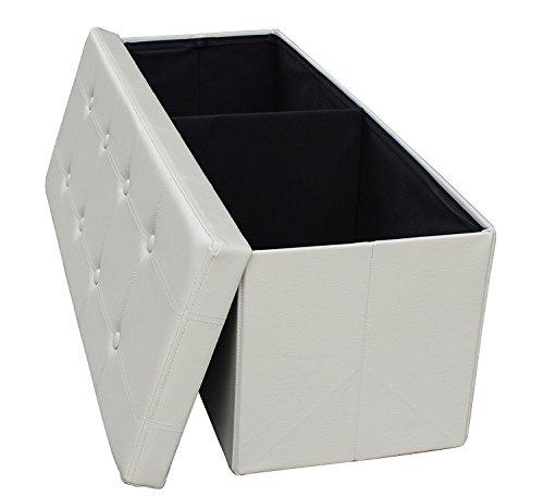 43 Quot Long Faux Leather Folding Storage Bin Amp Bench Seat