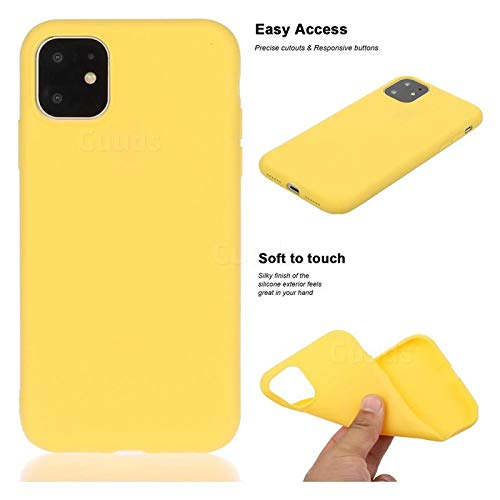 A.Dot Soft Silicone Fitted Skin Latex Case Back Cover for iPhone 11 (iPhone 11, 6.1 Inch)