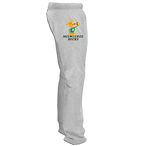 DHome Men's Workout Pants Milwaukee Team Logo Buck Ash XXL]()