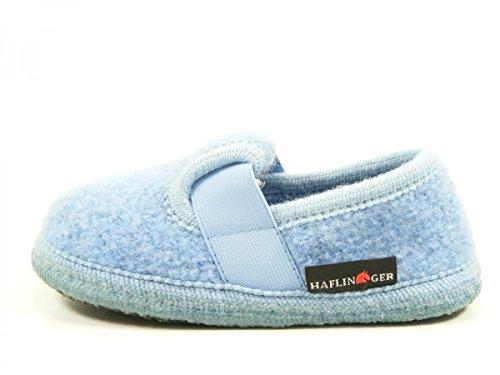 Haflinger Joschi 621002 - Zapatillas de casa de tela para niños Blau