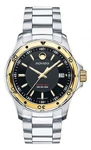Movado 800 Series Black Dial Stainless Steel Mens Watch MV2600097