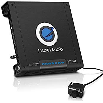 Planet Audio AC1500.1M Monoblock Car Amplifier - 1500 Watts Max Power, 2/4 Ohm Stable, Class A/B, Mosfet Power Supply, Remote Subwoofer Control
