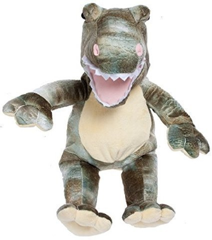 BEARegards Comfort Bears  Personalized Recordable 8-Inch Plush T-Rex Dinosaur for Voice Messages and Songs