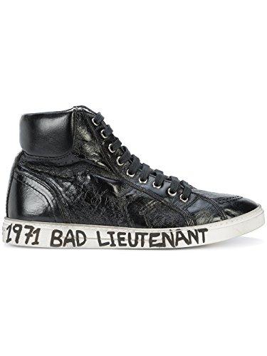 Saint Laurent Hi Top Sneakers Uomo 4871270AQ001000 Pelle Nero