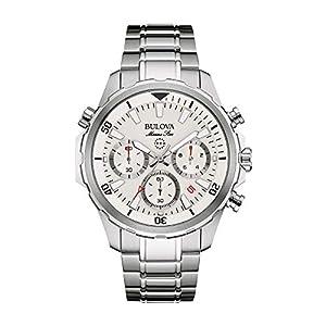 Bulova Mens 96B255 Dress White Dial Watch