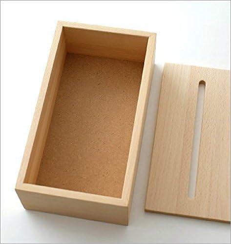 ティッシュケース 木製 おしゃれ ナチュラルウッドのティッシュボックス ビーチ [map2550]