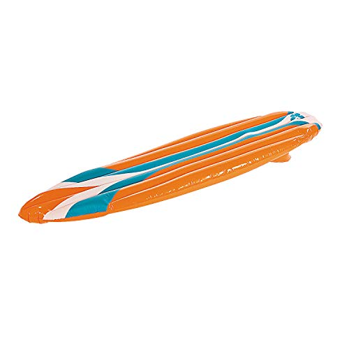 Fun Express Inflatable Surf Board (5 feet Long) Great Toy for Beach, Pool and Luau Party Decor