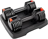 LifePro PowerUp Adjustable Weights Dumbbells Set - Home Workout Equipment for Weight Lifting, Strength Trainin