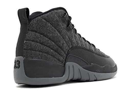Nike Boys Jordan 12 Retro Wool BG Dark Grey/Silver-Black Wool Dark Grey-metallic Silver-blac p2dvmIP