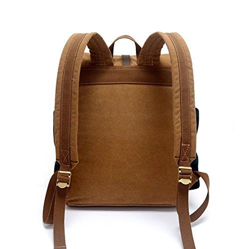 da C A doppia vintage spalla Zaino borsa a a da in studente borsa viaggio tela 0qAFOxFw