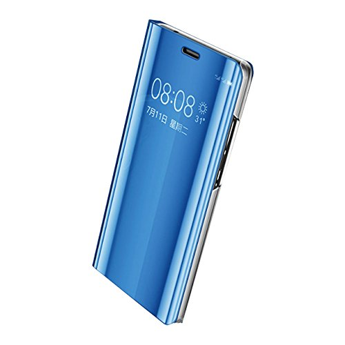 Eari Huawei P10 Case Huawei P10 Plus Case Slim Clear Mirror Stand Protection S-View Flip Cove (Huawei P10 Plus, Blue) - Cove Window