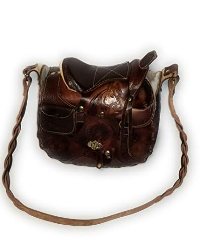 - Mexican Hand-tooled Horse Saddle Purse