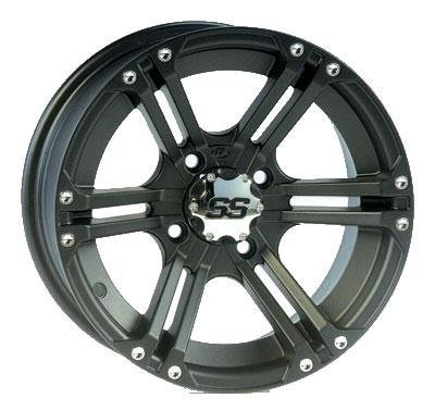 ITP SS ALLOY SS212 Matte Black Wheel with Machined Finish (12x7''/4x115mm)