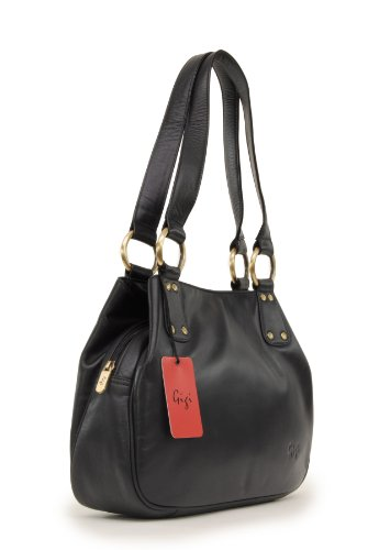 6819 Othello Gigi Bag Black Midi Shoulder Leather AqAwHzR