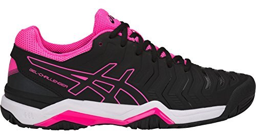 ASICS Women's Gel-Challenger 11 Black/Black/Hot Pink 8.5 B US (Challenger Gel Asics)