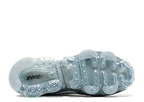 Nike Womens Air Vapormax Flyknit Scarpe Da Corsa Grigio Scuro, Nero-lupo Grigio
