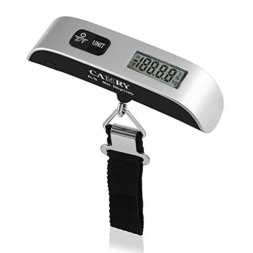 Purchase Camry Digital Luggage Scale 110 Lbs Portable High Precision Travel Hanging Postal Scale wit...