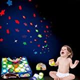 lightclub Creative Luminous Light Up Spring Toy Magical Folding Rainbow Circle Projection Light Star Projector Projection Toy Novelty and Funny Toy for Baby Boy Girl Random Color