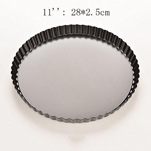 11-28x25cm-pie-cake-tart-removable-non-stick-bottom-baking-pastry-mold-pan-bakeware-black-alluminum-