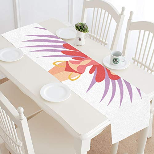 WIEDLKL Beautiful Girl Wearing Bright Festival Costume Table Runner Kitchen Dining Table Runner 16x72 Inch for Dinner Parties Events Decor]()