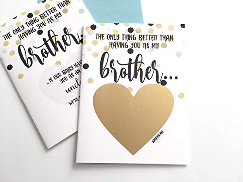 Pregnancy Scratch Off Card for Brother New Uncle ()