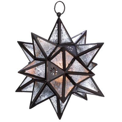 Moroccan Star - Hanging Multi-Point Star Candle Lantern
