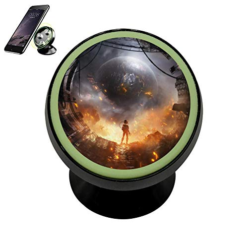 - LIHHOLI SciFi Astronaut Spacecraft Explosion Vehicle Phone Mount Magnetic Mobile Phone Car Cradle Stand Dashboard Multi-Function Mounts Holder 360 Universal Noctilucent Kit