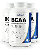 Nutricost BCAA Capsules 2:1:1 500mg, 500 Caps (3 Bottles)