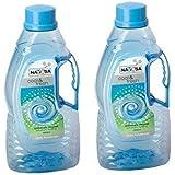Arrison Nayasa Fontana Plastic 1500Ml Bottle with Handle, Size 3IN - 2Pcs Set (8.9072863671e+012, Multicolour)
